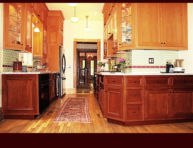 Kitchen cabinets in allentown pa - Cherry Kitchen Cabinets Lower Cabinets Stained Traditional Cherry