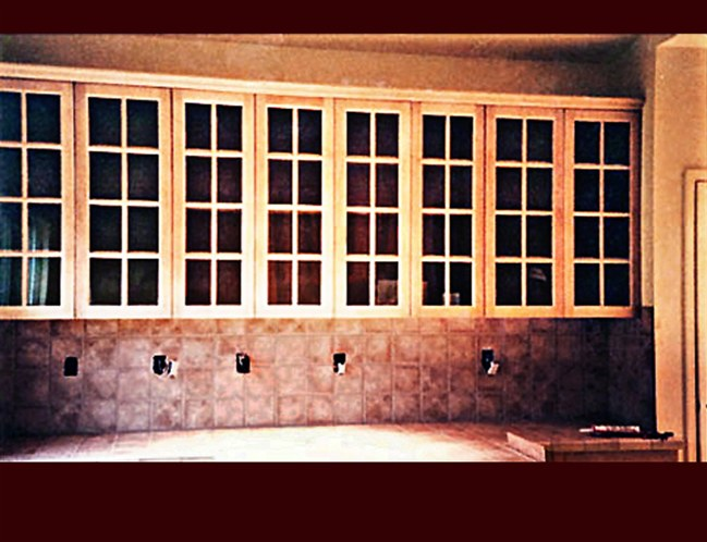 Custom maple kitchen cabinetry upper wall cabinets ided lite